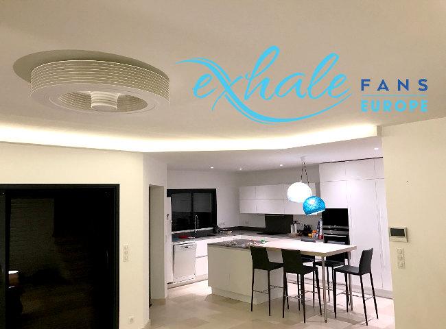 innovation exhale pour un t plus frais ventilateur plafond moderne. Black Bedroom Furniture Sets. Home Design Ideas